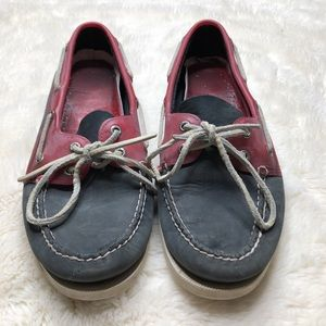 Sperry Top-Sider Blue & Red Shoes Size 10